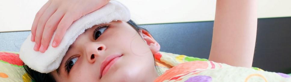 Тряпка на лоб ребёнку при температуре 42